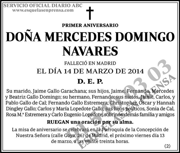 Mercedes Domingo Navares